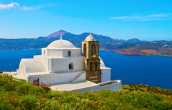 Panaghia Thalassitra church Milos island Greece Stock Photos