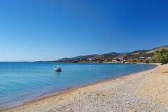 Panagia海滩安提帕罗斯岛,希腊 库存图片