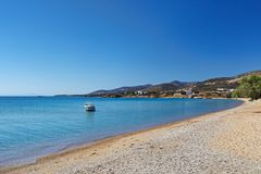 Panagia beach of Antiparos, Greece. Panagia beach of Antiparos island in Cyclades, Greece stock image