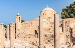 Panagia Chrysopolitissa Ayia Kyriaki kościół w Paphos, Cypr Obrazy Stock