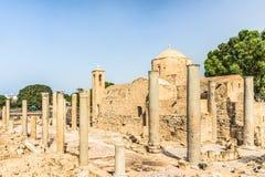 Panagia Chrysopolitissa Ayia Kyriaki kościół w Paphos, Cypr Obrazy Royalty Free