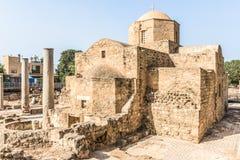 Panagia Chrysopolitissa Ayia Kyriaki kościół w Paphos, Cypr Obraz Stock