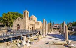 Panagia Chrysopolitissa Basilica in Paphos. Cyprus Royalty Free Stock Photography