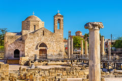 Panagia Chrysopolitissa Basilica in Paphos Stock Photos