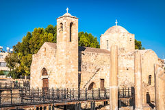 Panagia Chrysopolitissa Basilica. Paphos, Cyprus Royalty Free Stock Photography