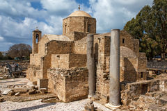 Panagia Chrysopolitissa Basilica in Paphos,Cyprus Royalty Free Stock Photography