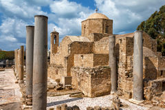 Panagia Chrysopolitissa Basilica in Paphos,Cyprus Stock Photo