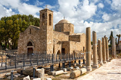 Panagia Chrysopolitissa Basilica in Paphos,Cyprus Stock Images