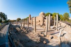The Panagia Chrysopolitissa church. Paphos, Cyprus Royalty Free Stock Photos