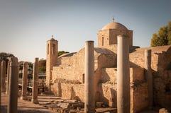 Panagia Chrysopolitissa church. Paphos, Cyprus Stock Image