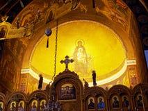 Panagia Dovra, Greek Orthodox Church,. Interior dome of the Greek Orthodox Church at Panagia Dovra, Veria, Macdonia, Northern Greece Royalty Free Stock Photo
