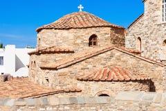 Panagia Ekatontapyliani教会,帕罗斯岛 库存图片