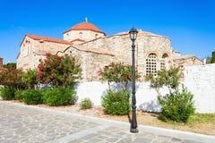 Panagia Ekatontapyliani教会,帕罗斯岛 库存照片