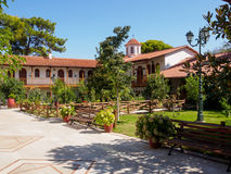 Panagia Faneromeni修道院在莱夫卡斯州的 免版税库存图片