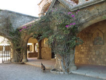 Panagia Filerimos,罗得岛,希腊修道院。 免版税库存照片