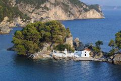 Panagia island, Parga, Greece Royalty Free Stock Photography