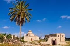 Panagia Kanakaria教会和修道院土耳其语的占领了塞浦路斯12的边 库存照片