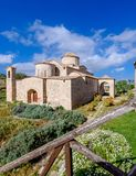 Panagia Kanakaria教会和修道院土耳其语的占领了塞浦路斯13的边 库存照片