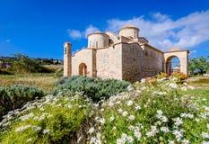 Panagia Kanakaria教会和修道院土耳其语的占领了塞浦路斯9的边 图库摄影