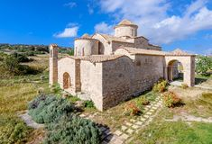Panagia Kanakaria Church and Monastery in the turkish occupied side of Cyprus 4. Panagia Kanakaria Church and Monastery dating back to the early byzantine period stock photo