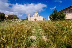 Panagia Kanakaria Church and Monastery in the turkish occupied side of Cyprus 15. Panagia Kanakaria Church and Monastery dating back to the early byzantine stock photos