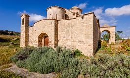 Panagia Kanakaria Church and Monastery in the turkish occupied side of Cyprus 21. Panagia Kanakaria Church and Monastery dating back to the early byzantine stock photography