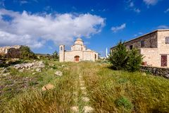 Panagia Kanakaria Church and Monastery in the turkish occupied side of Cyprus 5. Panagia Kanakaria Church and Monastery dating back to the early byzantine period royalty free stock photo