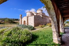 Panagia Kanakaria Church and Monastery in the turkish occupied side of Cyprus 24. Panagia Kanakaria Church and Monastery dating back to the early byzantine royalty free stock photography