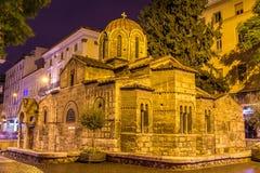 Panagia Kapnikarea,一个古老教会教会在雅典 库存照片