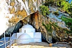 Free Panagia Makrini `Distant Virgin Mary` Church, Hidden In A Cave Of Kerkis Mountain, Samos Island, Greece Royalty Free Stock Photo - 92287235