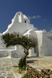 Panagia Paraportiani church. Stock Photo