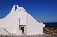 Panagia paraportiani church  of mykonos, cyclades , Greece Royalty Free Stock Photo
