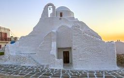 Panagia Paraportiani church in Mykonos Stock Photo