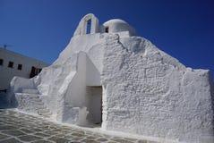 Panagia Paraportiani church in Mykonos, Greece. Stock Photos