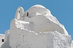 Panagia Paraportiani na ilha de Mykonos em Grécia Foto de Stock Royalty Free