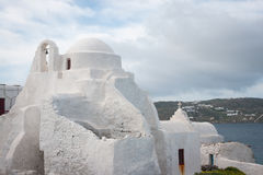 Panagia Paraportiani (Our Lady of the Side Gate), Mikonos, Greec Royalty Free Stock Image