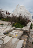 Panagia Paraportiani (Our Lady of the Side Gate), Mikonos, Greec Royalty Free Stock Images