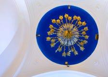 Panagia Stratolatissa chandelier cupola Stock Images