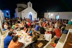 Panagia Stratolatissa courtyard celebrations Royalty Free Stock Images