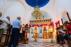 Panagia Stratolatissa liturgy Stock Photo