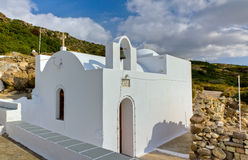Panagia tou Kipou chapel, Milos island, Greece Stock Photo