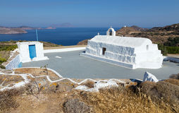 Panagia Tourliani chapel, Milos island, Cyclades, Greece Stock Photo