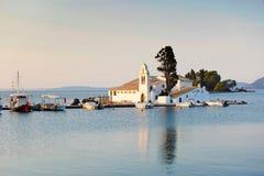 Panagia Vlacherna en Corfú, Grecia Fotografía de archivo libre de regalías
