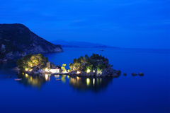 Panagias island in Parga Greece Stock Photo