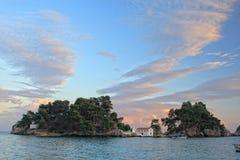 Panagias island in Parga Greece Stock Photos