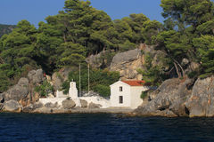 Panagias island in Parga Greece Stock Image