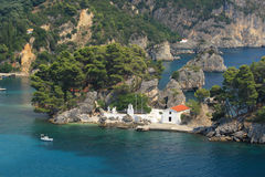Panagias island in Parga Greece Royalty Free Stock Photo