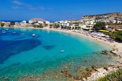Panagias Limani en Karpathos, Grecia Fotos de archivo