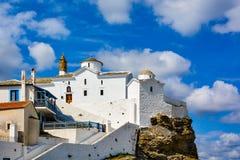 Panagitsa Tou Pirgou教会,斯科派洛斯岛,希腊 库存图片