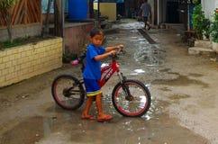 Panagsama Beach Rainy Season Stock Images